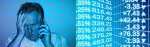 Rentenversicherung Inflation Mann Verzweiflung Börse Kurse