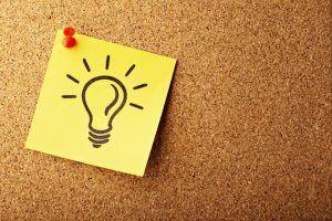 Post It Pinnwand Glühbirne Amateure langweilen Profis begeistern