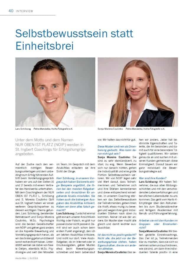 Azubi Atlas Saarbrücker Zeitung Bewerbung Vorstellungsgespräch