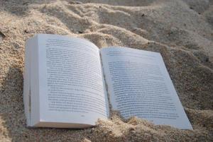 Fernuni Hagen, Psychologie studieren, Fernstudium, Buch, Strand