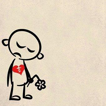 Liebeskummer, Trennung, Herzschmerzen, Trennungsschmerz, Beziehungsende, gebrochenes Herz