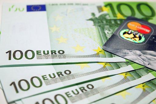 Euro, Kreditkarte, Gehalt, Geld